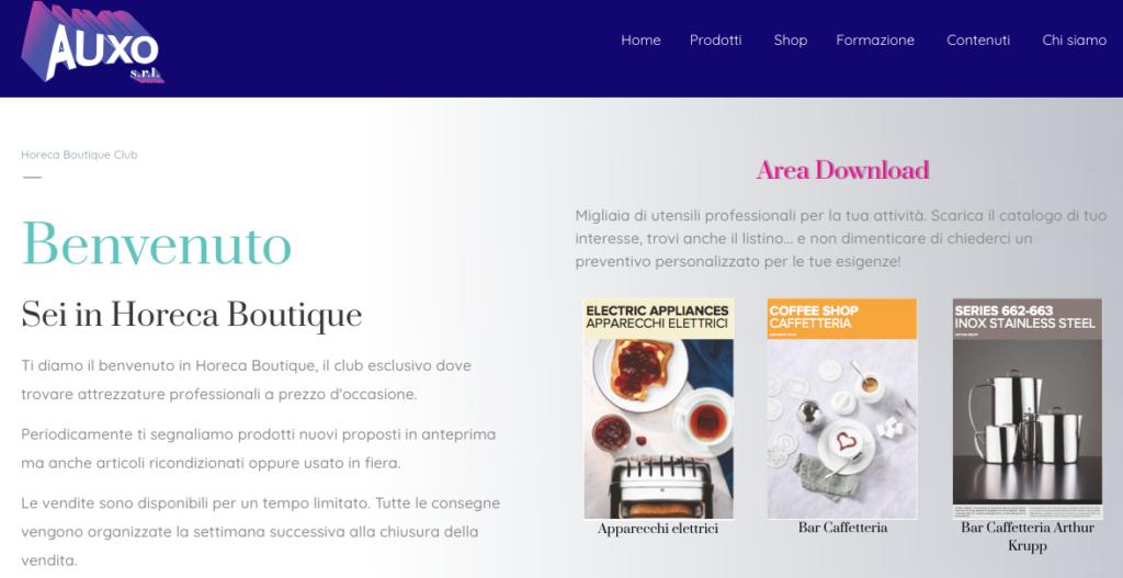 Pagina riservata ai membri di horeca boutique, la vetrina delle attrezzature a prezzo d'occasione