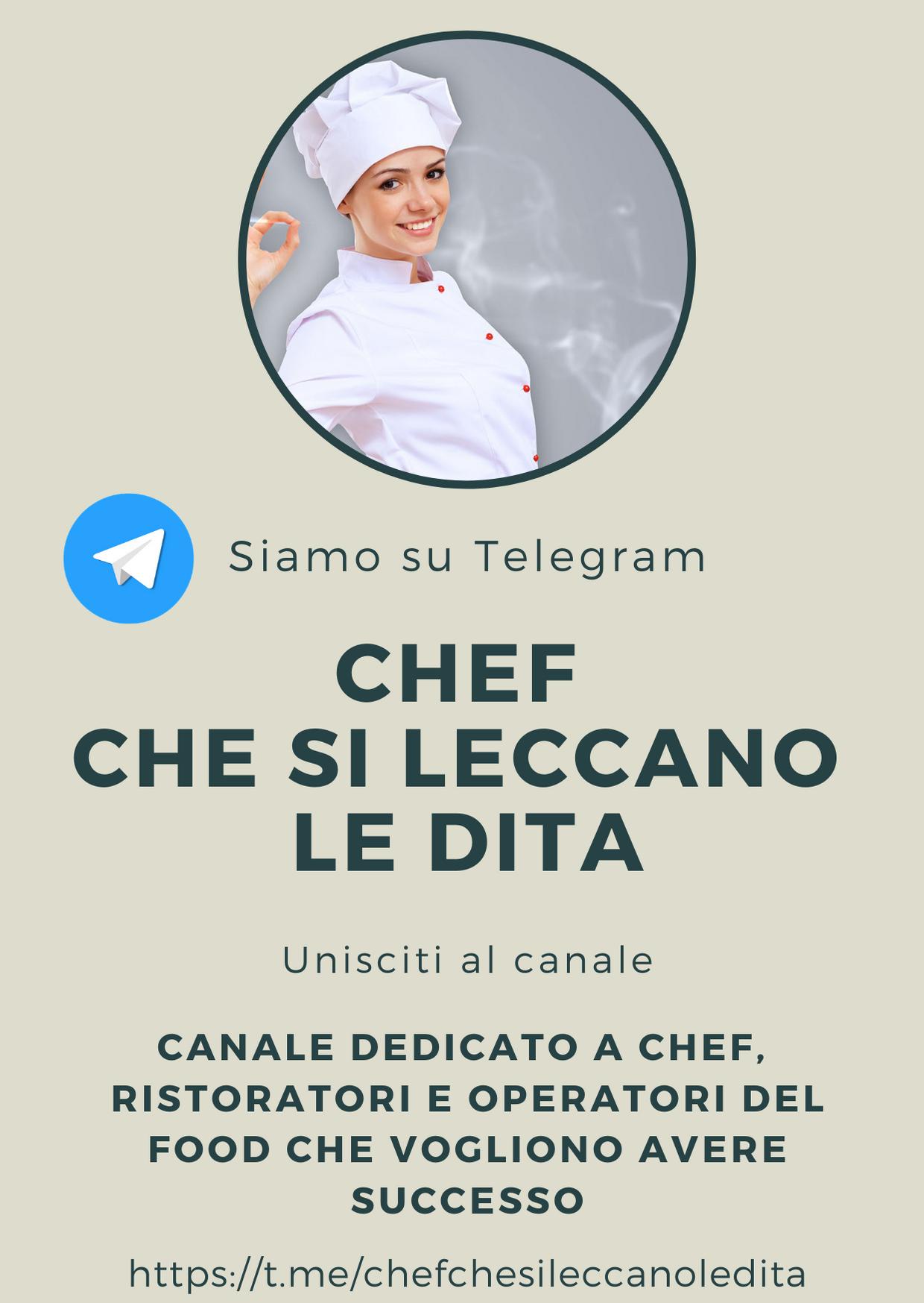 Chef che si leccano le dita: il canale telegram di Auxo